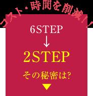 コスト・時間を削減!!6STEP->2STEP その秘密は?